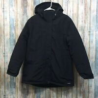 Lands End Squall Womens Medium 10-12 Black Zip Up Hooded Insulated Winter Coat