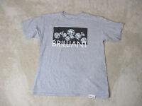 Diamond Supply Company Shirt Size Adult Large Gray Black Streetwear Skater Mens