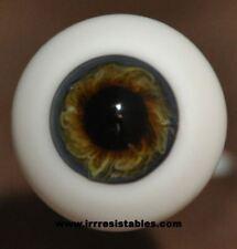 Blue Gray Brown #21 German Glass Eyes Full Round - 24mm