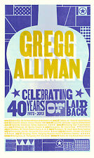 "Gregg Allman ""Celebrating 40 Years Of Laid Back"" 2013 Concert Tour Poster"