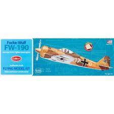 FOCKE-WULF FW-190 WWII German Fighter Rubber Balsa Wood Plane GUILLOWS model 502