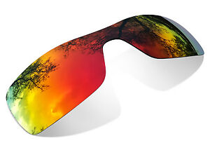 Polarized Fire Red Replacement Lenses for Oakley Batwolf