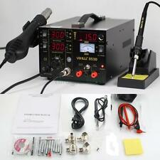 853D 3in1 DC Power Supply SMD Rework Station Soldering Hot Air Gun Welder 110V