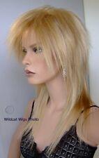 Rock Star Wig .  . TOP QUALITY ..  Unisex Tina Turner *  Blonde Mix 24H613