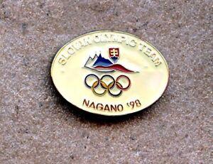 NOC Slovak 1998 Nagano OLYMPIC Games Pin