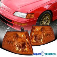 For 1990 1991 Honda Civic 2 Door 3 Door Corner Lamps Signal Lights Fits 1991 Honda Civic