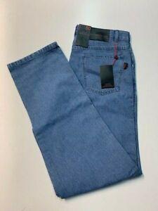 SEA BARRIER Jeans Uomo Invernale Imbottito Blu Scuro Tela Jeans MOD Polar Foderato in Pile