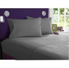1 PC Fitted Sheet 1000 Thread Count Egyptian Cotton Gray Solid King Size
