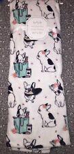 Frenchie French Bulldog White Plush Throw Blanket Dog Dogs Puppy 50x70
