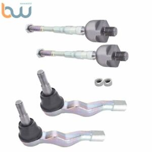 For Infiniti G35 03-06 Rear Wheel Drive Front New Inner and Outer Tie Rods