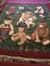 "Christmas Multiple bears throw blanket 47"" x 55"""