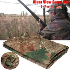 1.5x2m Clear View Camo Army Net Hide Netting Pigeon Decoy Cover Hunting Shooting
