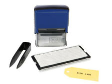 Textstempel Firmenstempel Adressstempel Stempel für Papier & Textilien Blau