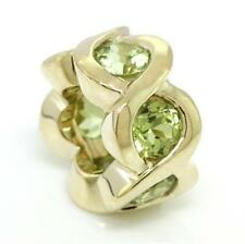 Cheeky Real Peridot 9k 9ct 375 Solid Gold Bead Charm Fits Major Brands