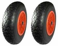 """2 x 350mm.(14"""") Wheels. PUNCTURE PROOF TYRE 1"""" bore.Kayak/Dinghy/Boat Launch*"""
