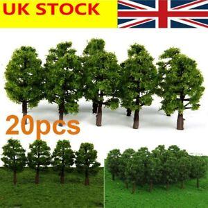 20pcs Model Trees - 8cm High, Green - Railway Architecture Scenery Landscape