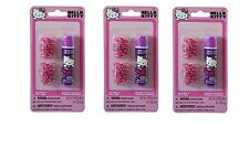 (3 pack )HELLO KITTY Lip Balm and Hair Clips Set NEW!!