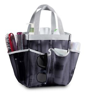 7 Pocket Mesh Shower Caddy Tote - Great for College and Gym | Assorted Colors