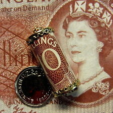 9ct gold second hand english QE2 ten shilling note charm