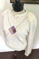80's Vintage Ivory Silk & Ramie Sweater