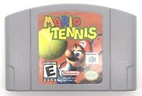 Mario Tennis Nintendo 64 N64 Cleaned Tested Authentic Cartridge Only