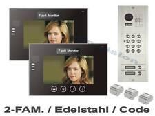 "NEU!  2-Fam.Haus Code VIDEO TÜRSPRECHANLAGE  7""Touchscreen MONITORE - 23mm FLACH"