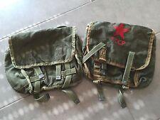Vintage-Schultertaschen mit Militär