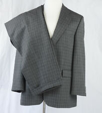 Alexandre Savile Row Mens Gray Wool 2PC Suit Cuff Pleats 2 Buttons Euro46R US 36