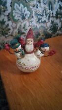 Midwest of Cannon Falls Pam Schifferl -Happy Christmas Santa Snowman Ornament