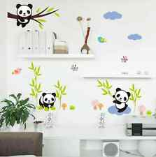 Bamboo With Three Pandas Child Room Wall Sticker Decal Vinyl Art