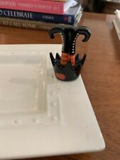 Rare Nora Fleming Witchy Feet mini Nora Fleming Retired Halloween Witch Fall