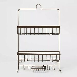 Large Bronze Bathroom Shower Caddy by Made By Design