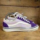 VTG Vans Womens Purple Suede Lace Up Low Top Skateboard Shoes 7.5 Made in USA