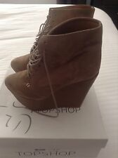 Topshop Wedge High (3-4.5 in.) Suede Shoes for Women