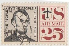 (UST-180) 1959 USA 25c Lincoln Air mail (U)