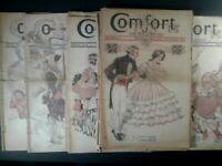 LOT of 19 Vintage COMFORT magazine CONSECUTIVE NUMBERS! Jan 1927-Aug 1928
