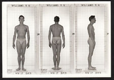 AGILE HOT MUSCLES ~ 1940s 5x7 NAVY ID PHOTO NEAR NUDE JOCK SAILOR MAN #2 gay