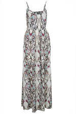 TOPSHOP PAISLEY PRINT CUT OUT MAXI DRESS 12 40 8 £60!