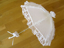 Gothic Lolita Lace Umbrella Sun Parasol Punk EGL Victorian Wedding Cosplay White