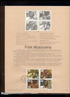 #3212-5 32c Folk Musicians USPS #9813 Souvenir Page