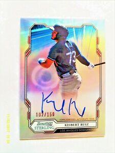 KEIBERT RUIZ 2019 Bowman Sterling ROOKIE AUTO ON CARD SP 102/150   Dodgers-Nats