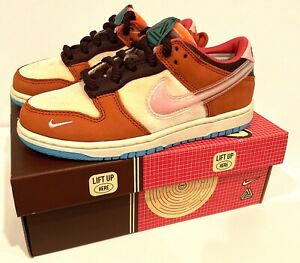 """Nike Dunk Low x Social Status (PS) """"Chocolate Milk"""" DM3349-700 Size 1Y IN STOCK"""