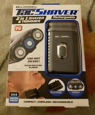 Bell + Howell Tac Shaver 2 In 1 Shaver & Trimmer Use Wet/Dry 3 Rotary Heads NEW