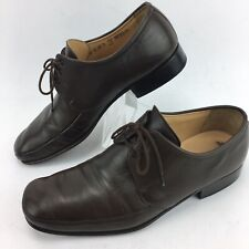 Bally Mens Brown Leather Brenzo Lace Up Oxfords Three Eyelet Size  9.5 D