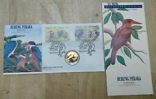 Malaysia 1993 Kingfisher Bird Burung Pekaka Stamp + Nordic Gold Coin FDC