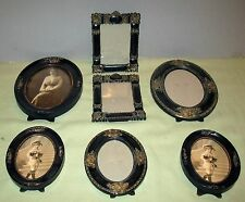 LOT OF 7 SMALL REPRODUCTION VICTORIAN STYLE PICTURE FRAMES TABLE TOP