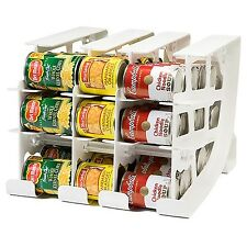 FIFO 54-can Food Storage Can Rack Tracker Organizer Dispenser Fresh Soup Soda