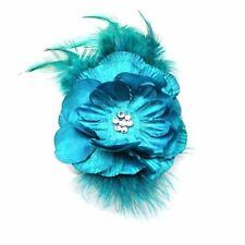 Accessoires de coiffure bleus en satin pour femme