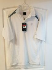 Nike Vintage Cool Motion Dri-Fit Large White Ss Mens Shirt New