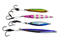 4 Pack of Casting and Jigging Jigs Hook Assist 3 oz Jigs Saltwater Fishing